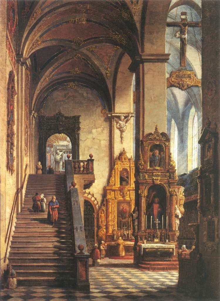Interior of the Dominican Church in Cracow